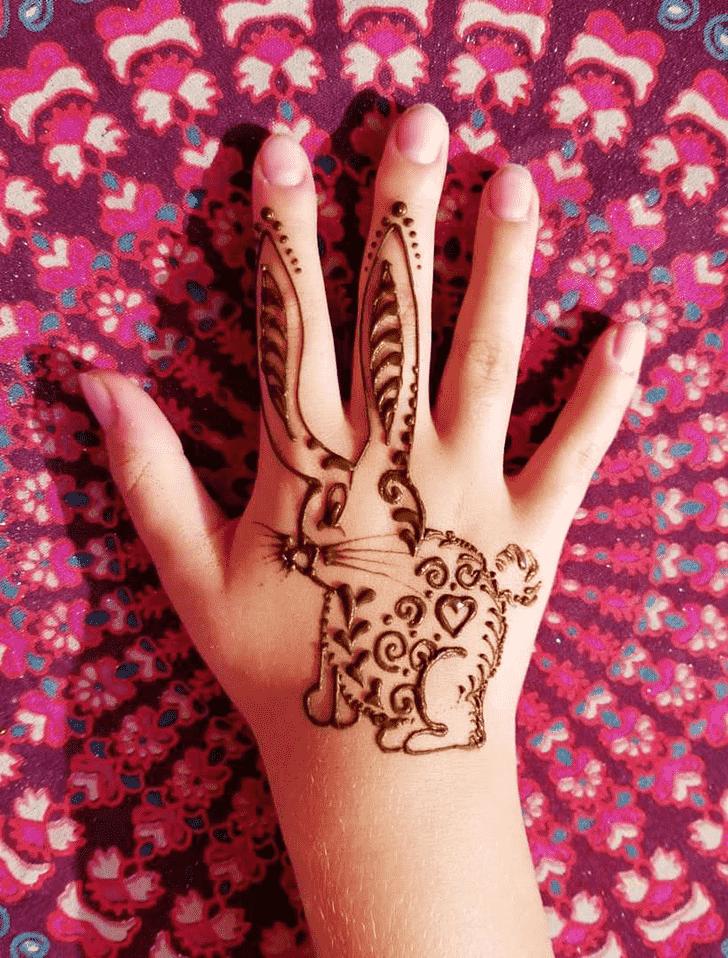 Beauteous Rabbit Henna Design