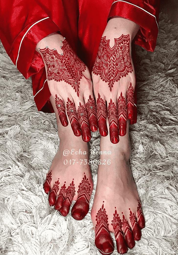 Charming Raipur Henna Design