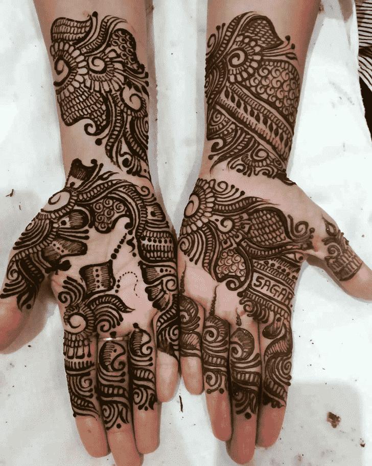 Adorable Rajasthani Henna Design