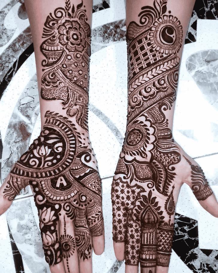 Angelic Rajasthani Henna Design