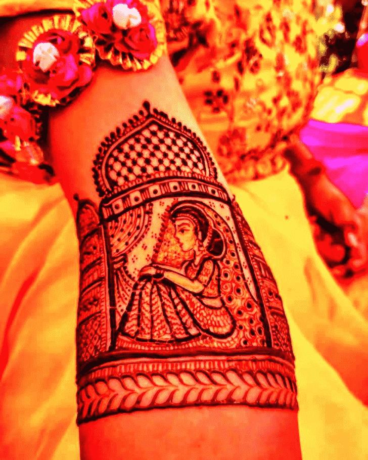 Bewitching Rajasthani Henna Design