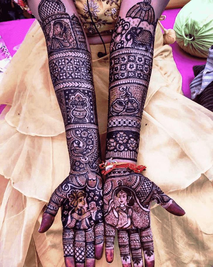 Captivating Rajasthani Henna Design