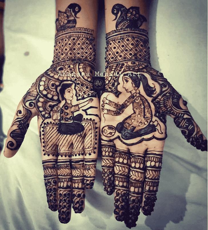 Adorable Rakhi Special Henna Design