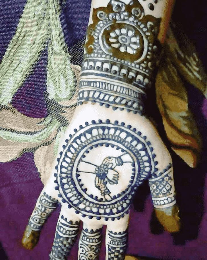 Appealing Rakhi Special Henna Design