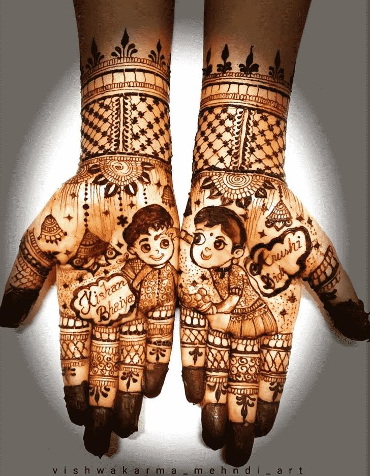 Bewitching Rakhi Special Henna Design