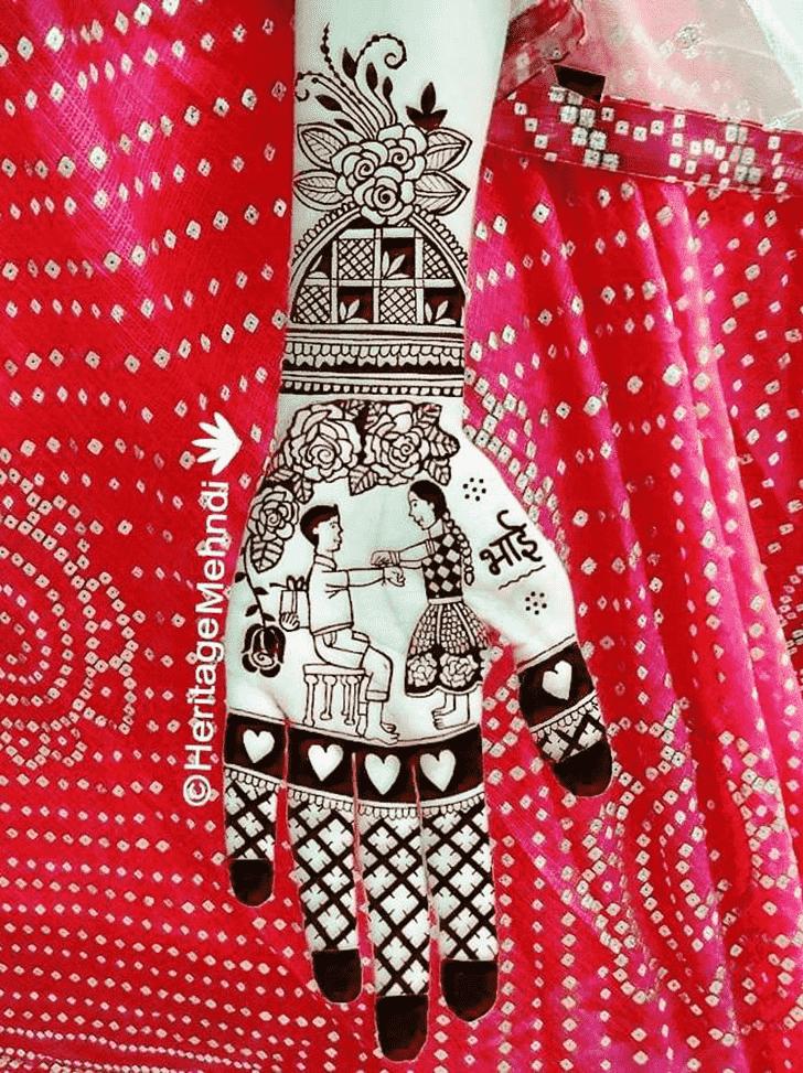 Charming Rakhi Special Henna Design