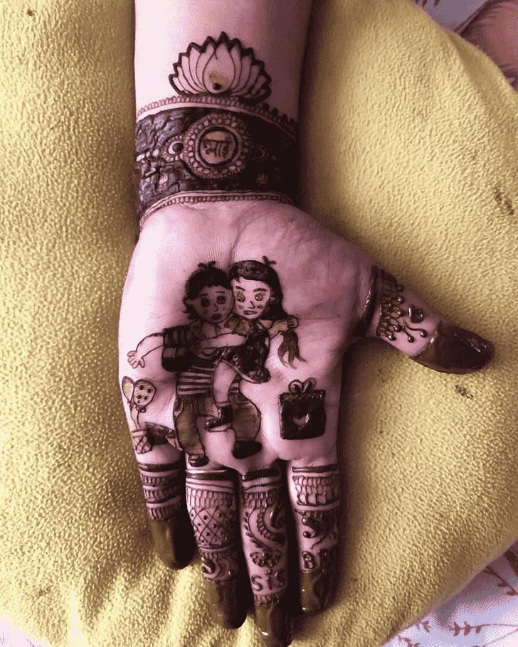 Comely Rakhi Special Henna Design