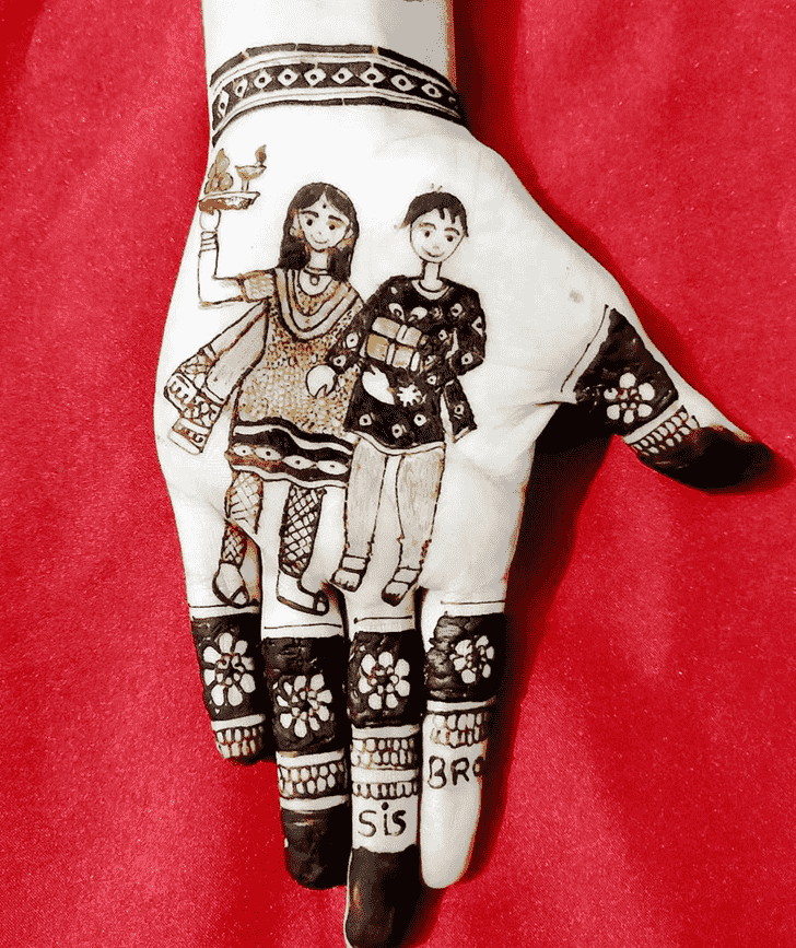 Dazzling Rakhi Special Henna Design