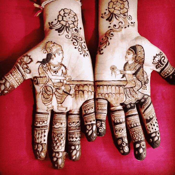 Delicate Rakhi Special Henna Design