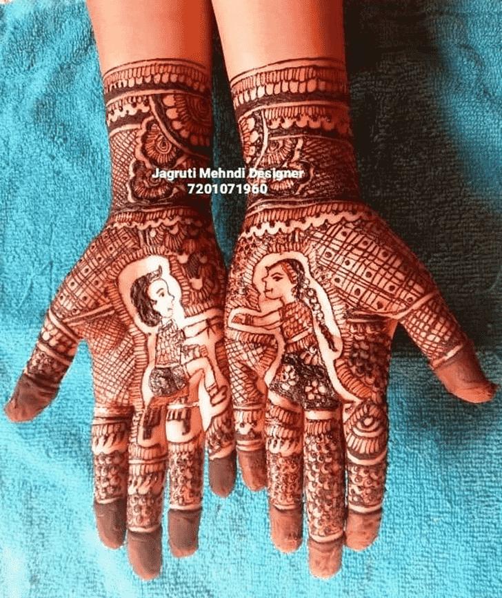 Delightful Rakhi Special Henna Design