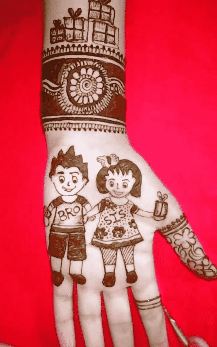 Elegant Rakhi Special Henna Design
