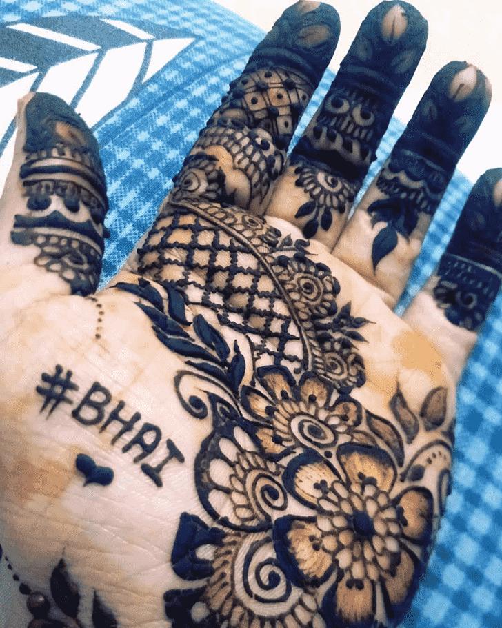 Enthralling Rakhi Special Henna Design