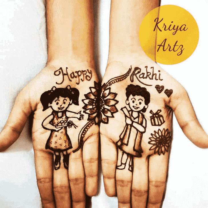 Exquisite Rakhi Special Henna Design