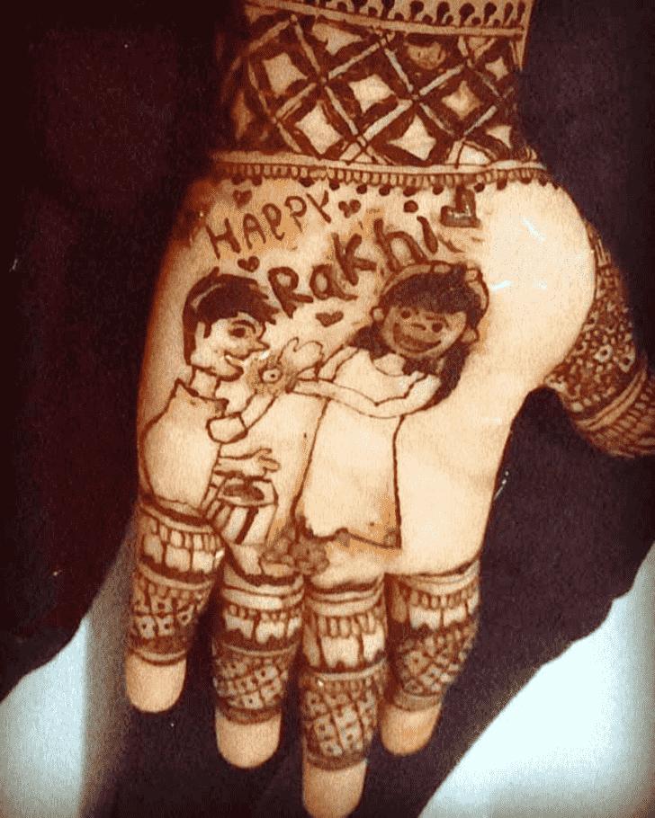 Fine Rakhi Special Henna Design