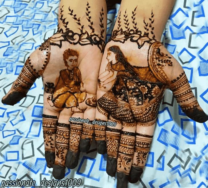 Good Looking Rakhi Special Henna Design