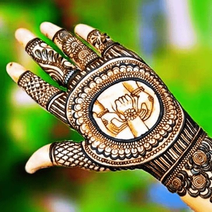 Grand Rakhi Special Henna Design
