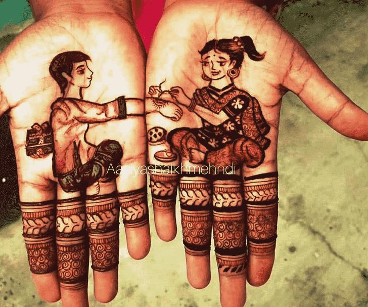 Magnificent Rakhi Special Henna Design