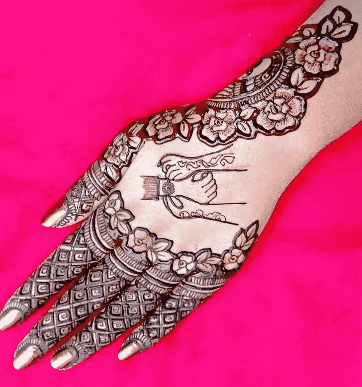 Marvelous Rakhi Special Henna Design