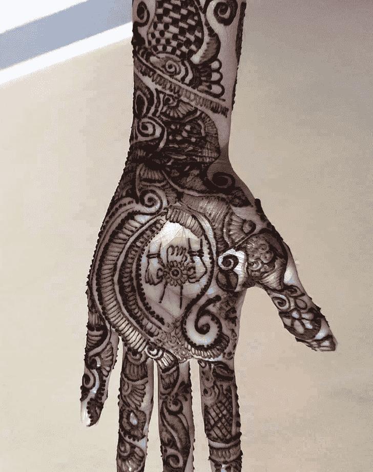 Mesmeric Rakhi Special Henna Design