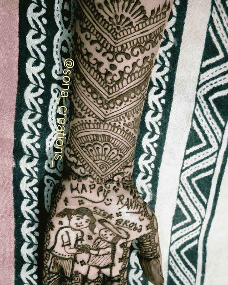 Nice Rakhi Special Henna Design