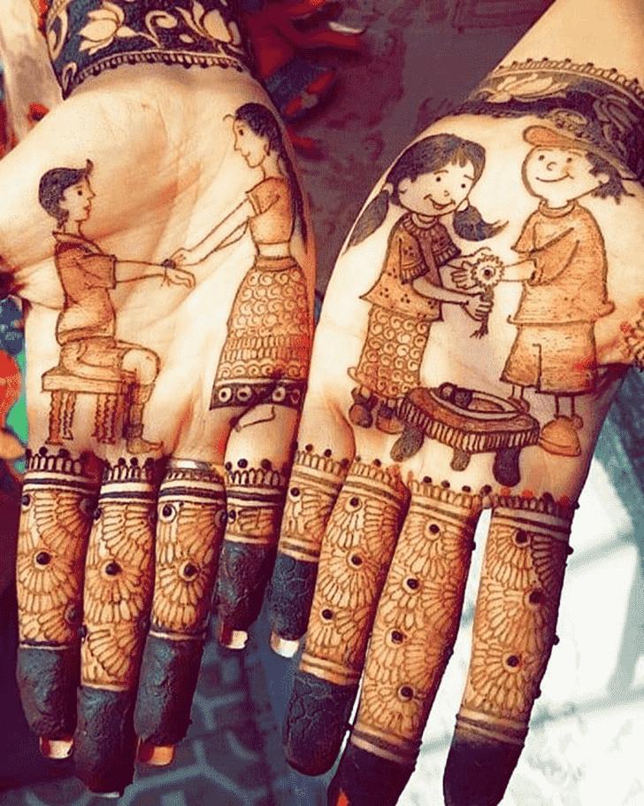 Pleasing Rakhi Special Henna Design