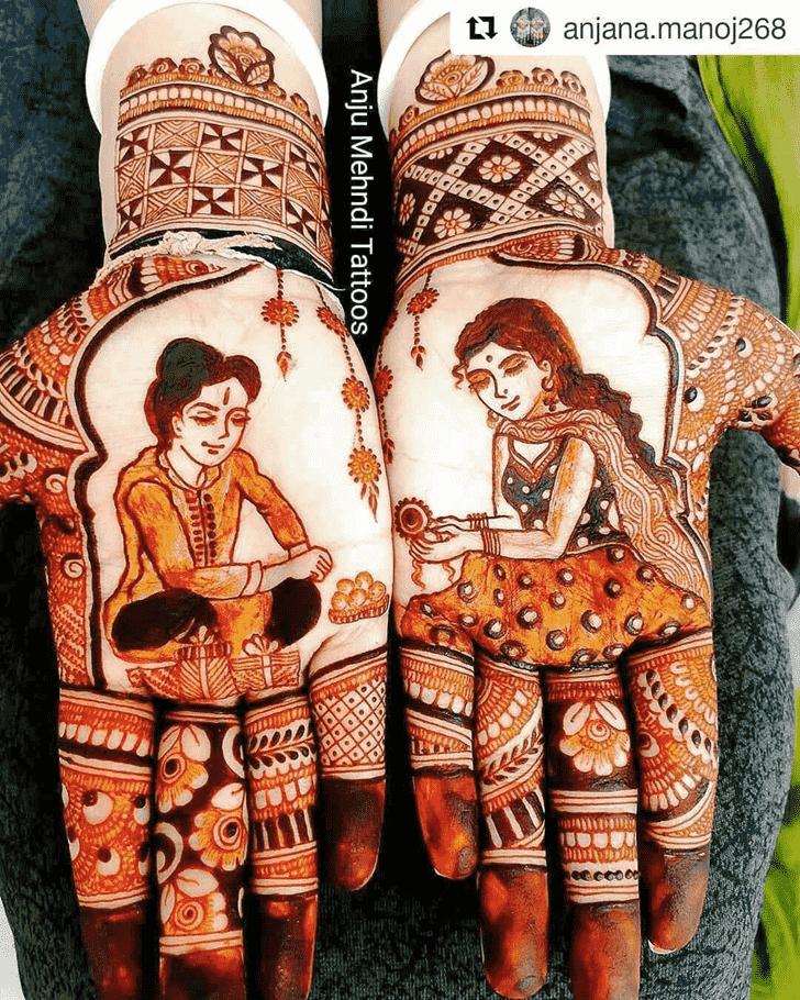 Pretty Rakhi Special Henna Design