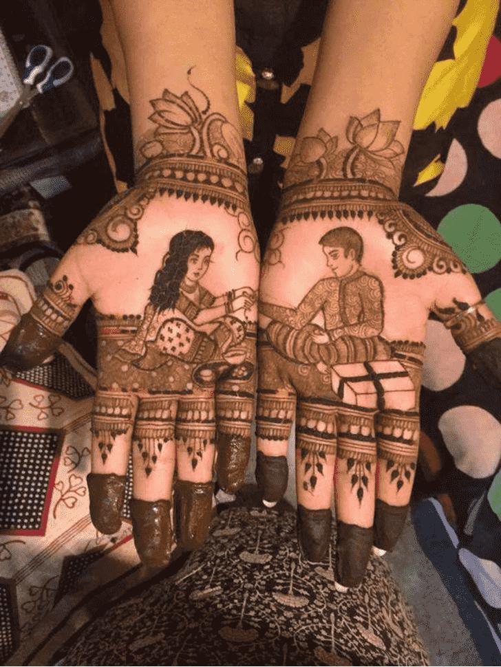 Resplendent Rakhi Special Henna Design