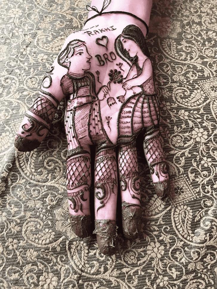 Shapely Rakhi Special Henna Design