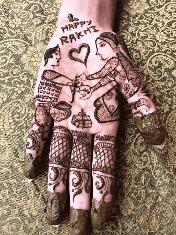 Slightly Rakhi Special Henna Design