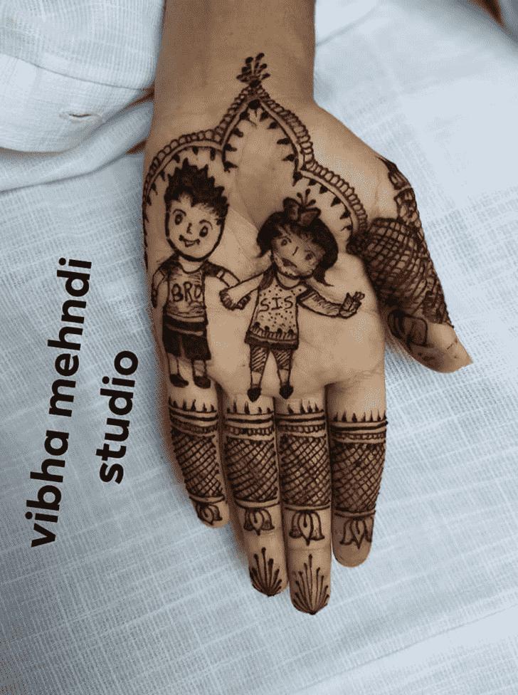 Splendid Rakhi Special Henna Design