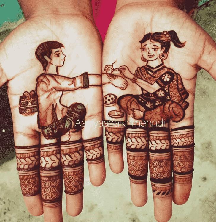 Stunning Rakhi Special Henna Design