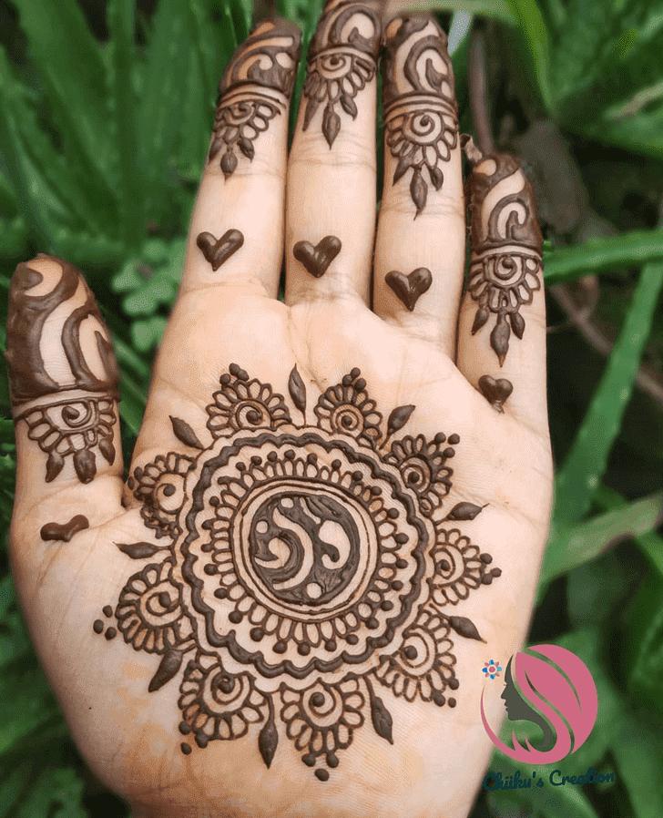 Beauteous Raksha Bandhan Henna Design on Both Hand