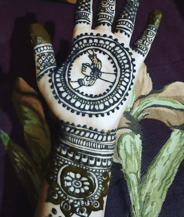 Classy Raksha Bandhan Henna Design on Both Hand