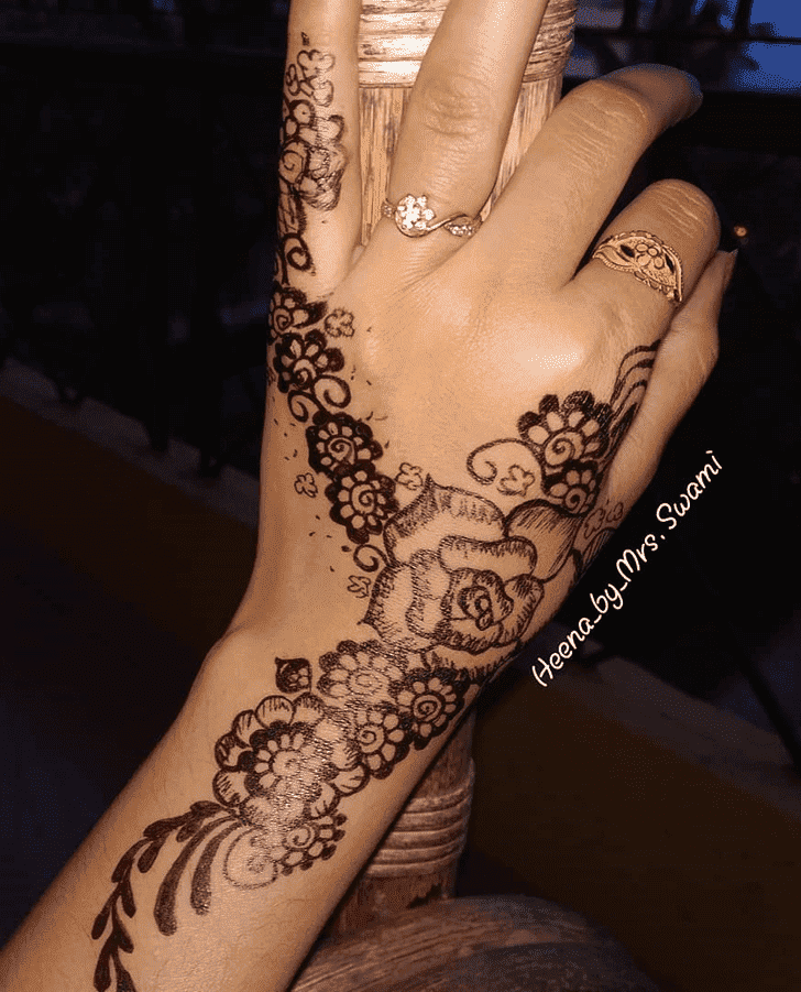 Arm Ranchi Henna Design