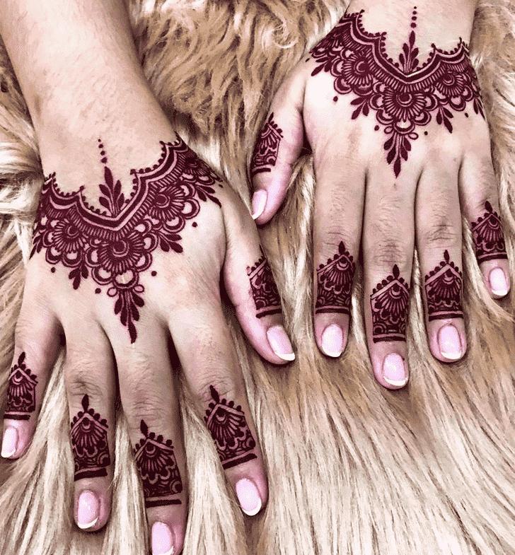 Admirable Red Mehndi Design