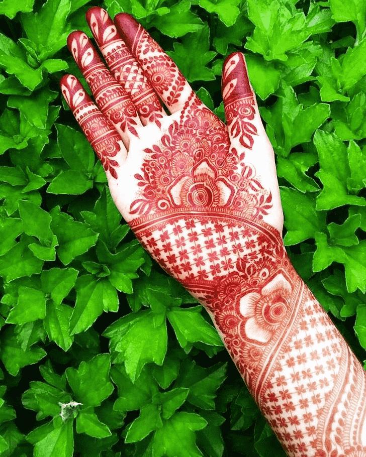 Alluring Red Henna Design
