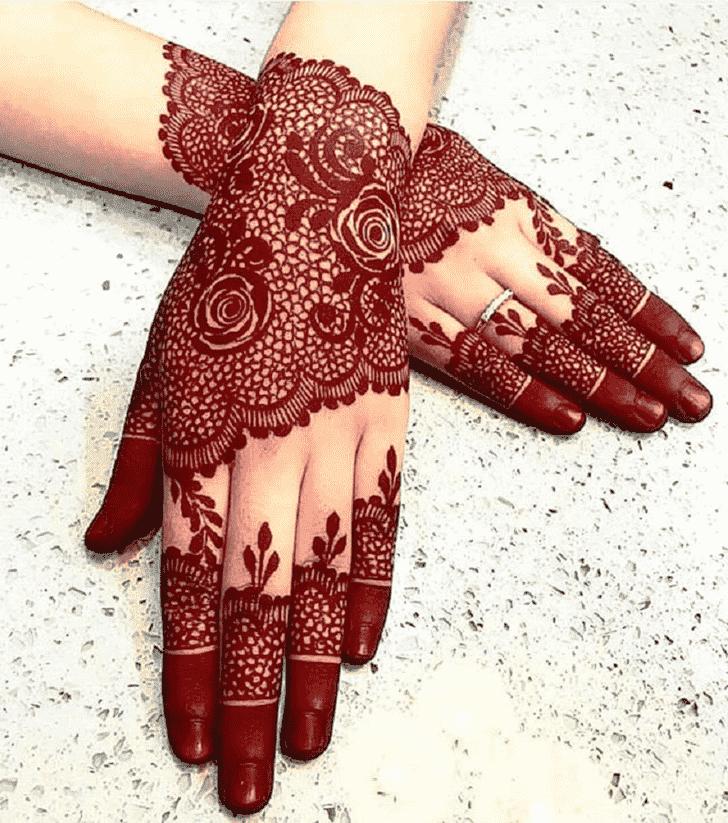 Angelic Red Henna Design