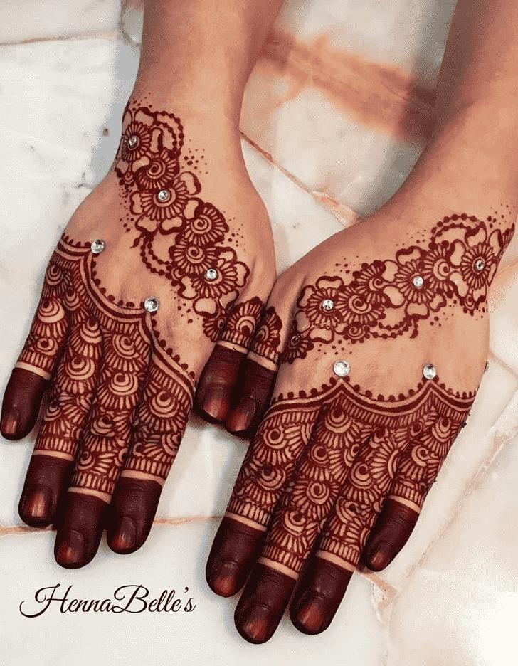 Captivating Red Henna Design
