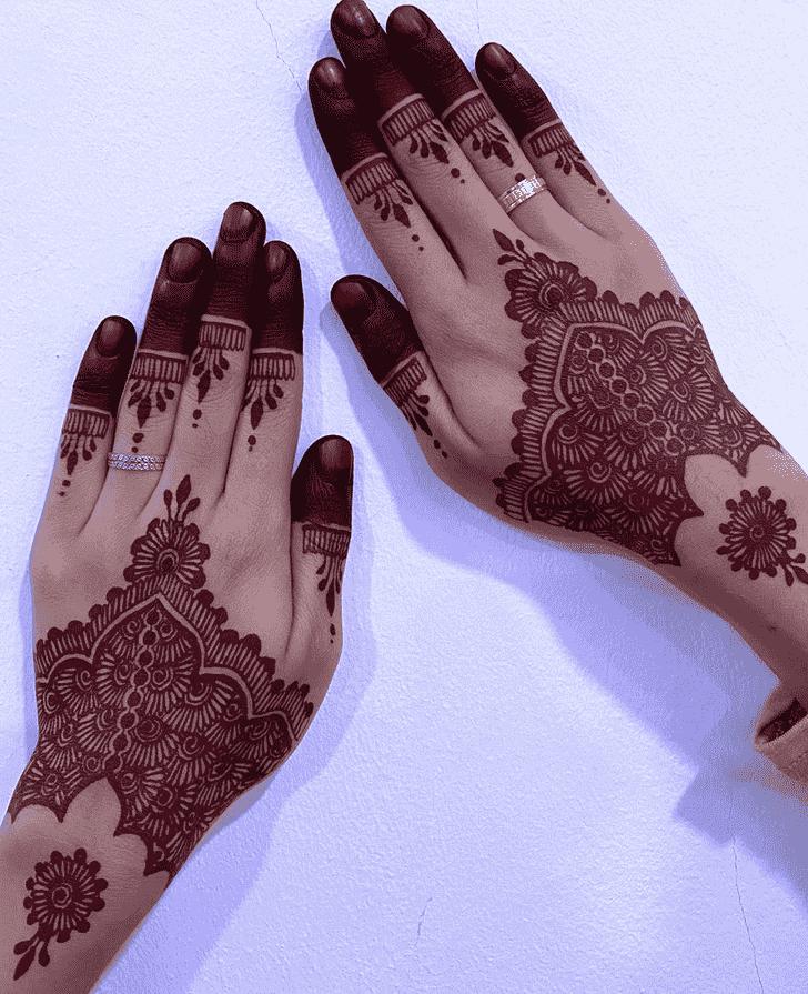 Delicate Red Henna Design