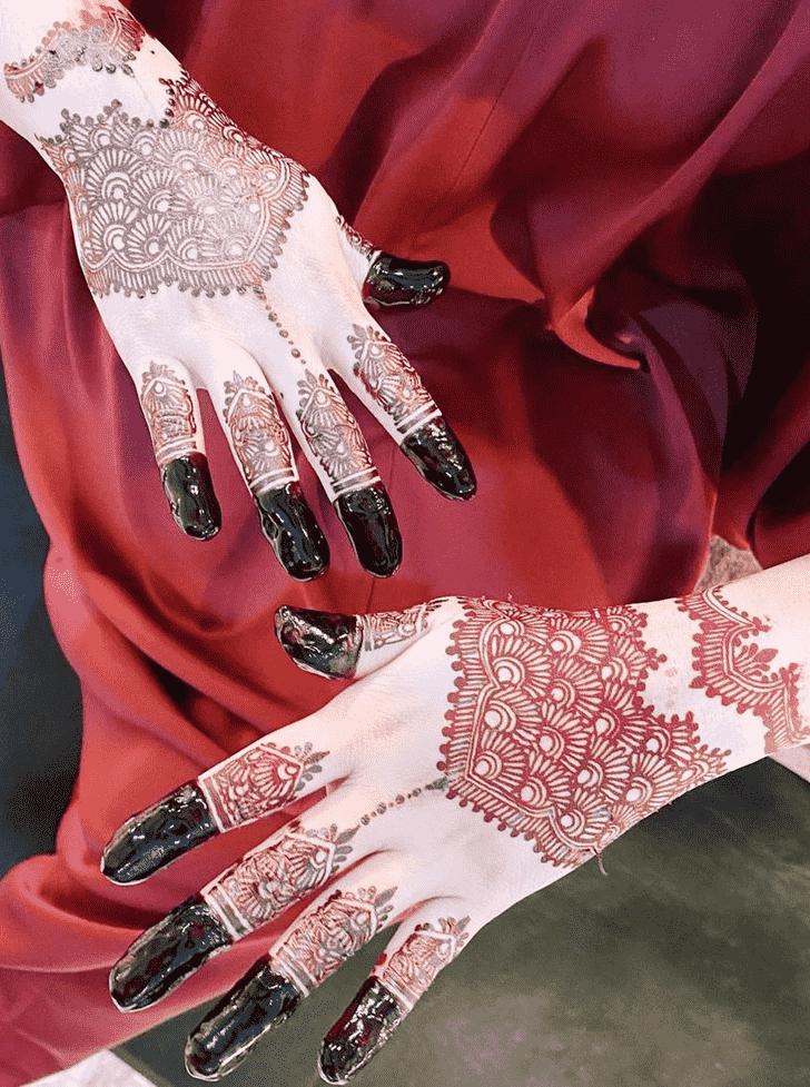Delightful Red Henna Design