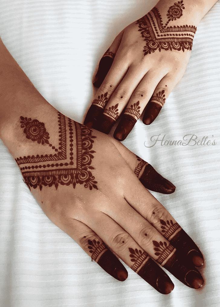 Enticing Red Henna Design