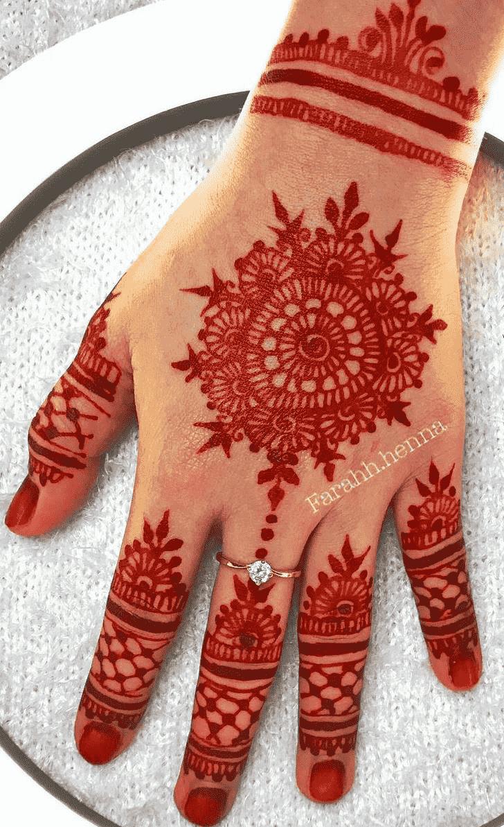 Excellent Red Henna Design