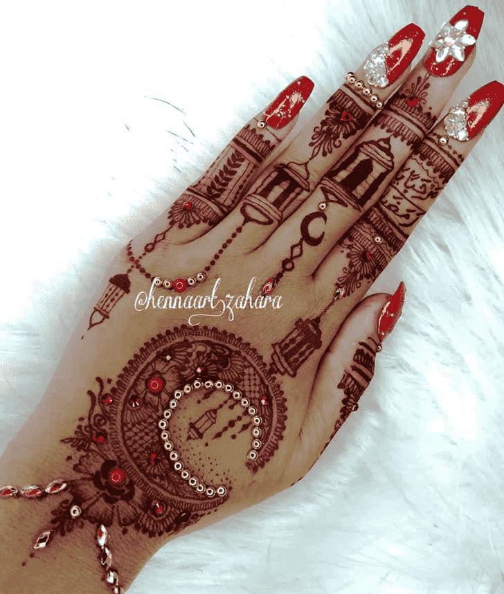 Fine Red Henna Design