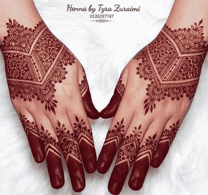 Gorgeous Red Henna Design