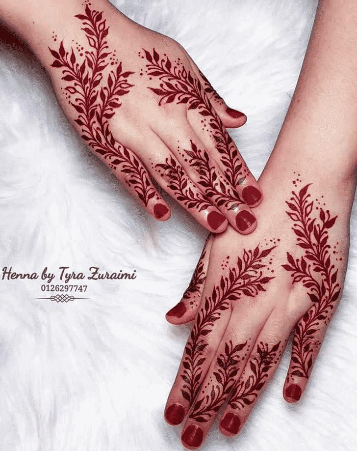 Grand Red Henna Design