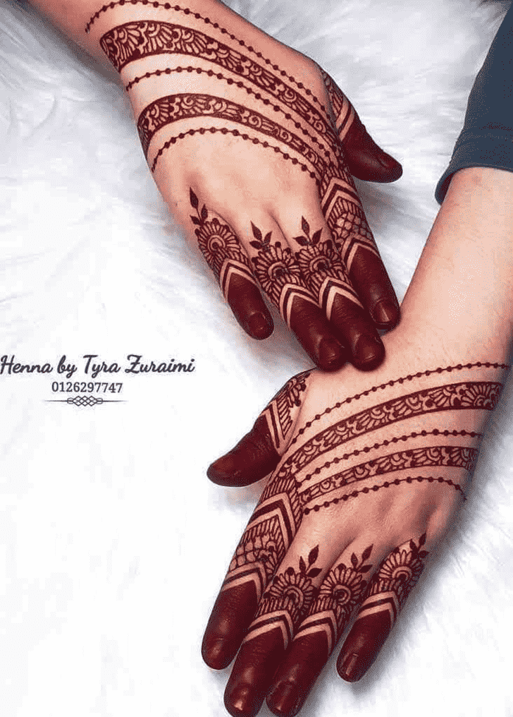 Awesome Red Henna Design