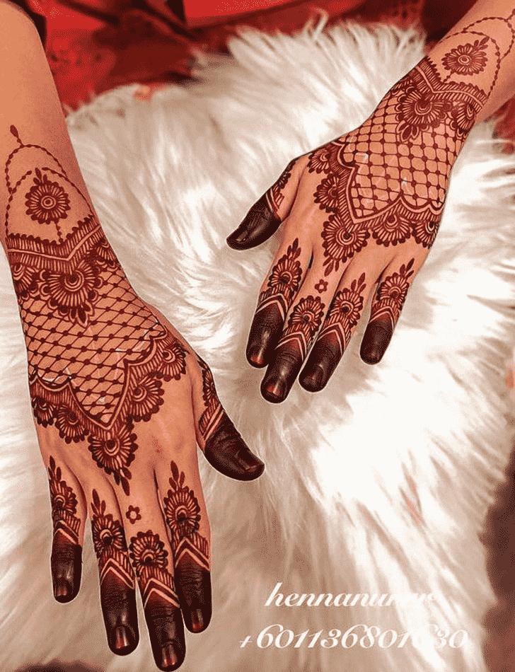 Inviting Red Henna Design