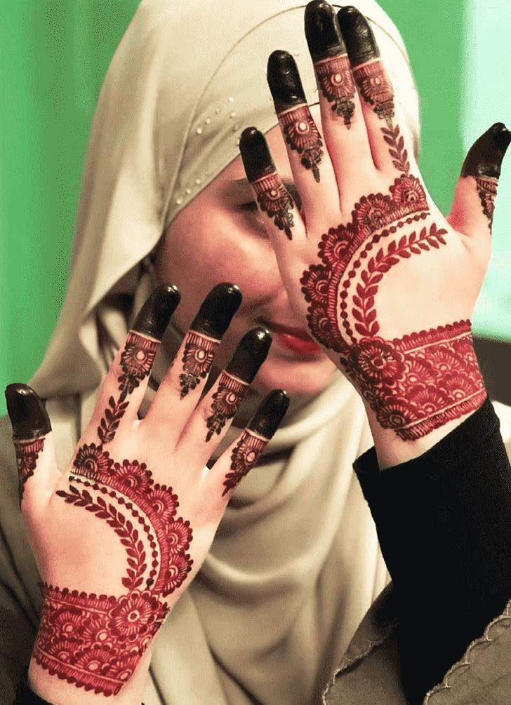 Magnificent Red Henna Design