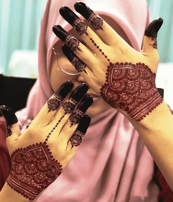Marvelous Red Henna Design