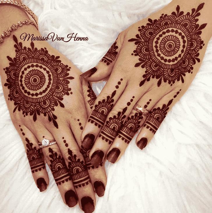 Pleasing Red Henna Design